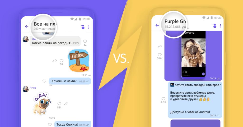 телеграм VS Viber